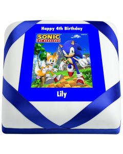 Sonic the Hedgehog and Tails Birthday Cake