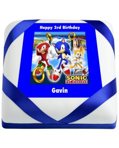 Sonic the Hedgehog Rings Birthday Cake