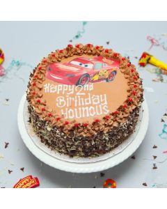 Lightning Mcqueen Photo Cake (FRZ C493)