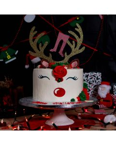 Rudolph The Red Nose Reindeer Christmas Cake (FRZ A2424)