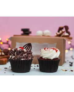 Red Velvet & Blackforest Twin Cupcakes (TWIN09)
