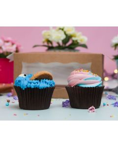 Cookie Monster & Cotton Candy Twin Cupcakes (TWIN17)