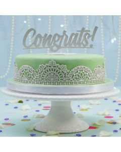 Laced Up Green & White Cake (FRZ A2604)