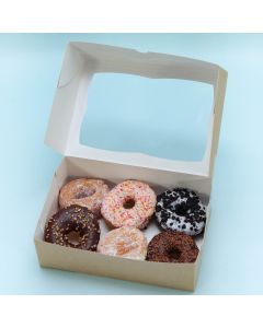 ASSORTED Doughnut Selection Box - Box of 6 (FRZ DSB3)